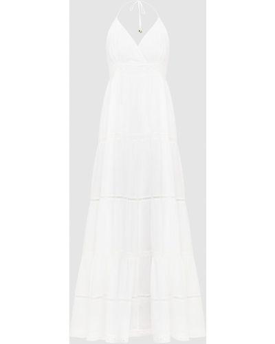 Платье макси с открытой спиной - белое Twin-set
