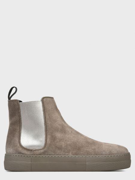 Кожаные ботинки - серые Frau