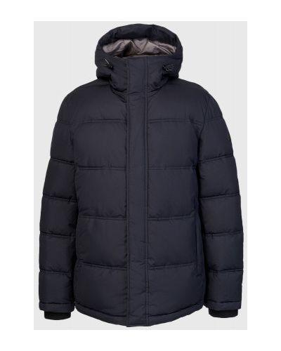 Трикотажная синяя куртка с капюшоном Ostin