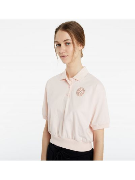 Różowy crop top perły Nike