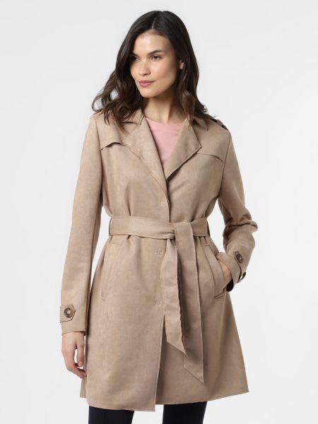Różowy płaszcz welurowy z bursztynem Amber & June