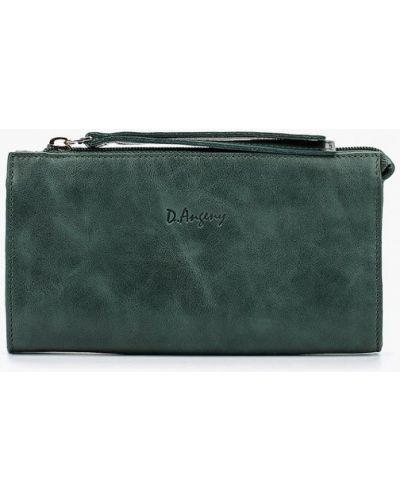 Зеленый кошелек итальянский D'angeny