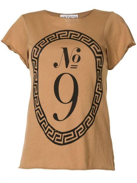 T-shirt bawełniany z printem krótki rękaw Wildfox