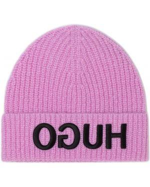 Różowa czapka Hugo