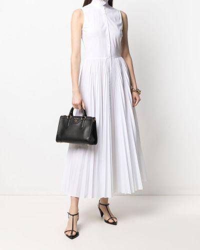 Расклешенное белое платье миди без рукавов Sara Roka