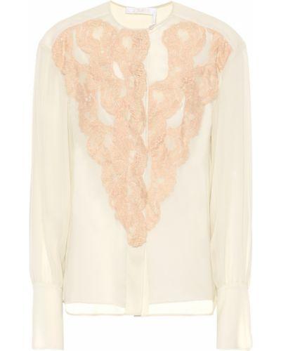 Блузка кружевная розовая Chloé