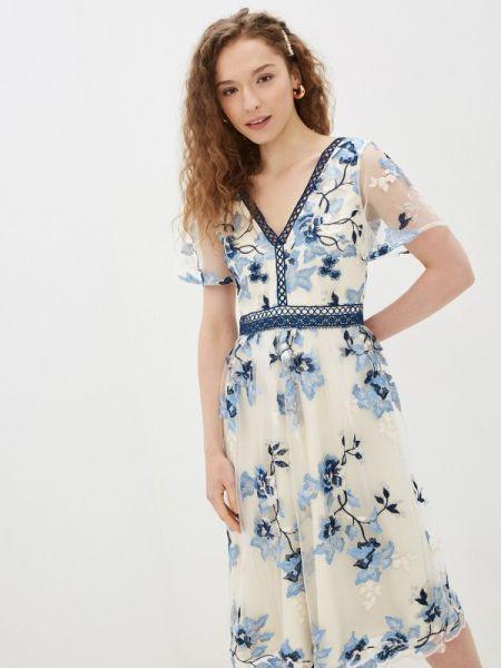 Платье прямое весеннее Chi Chi London
