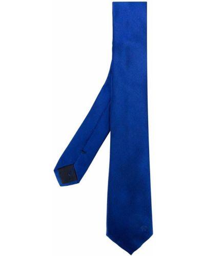 Синий галстук шелковый Versace