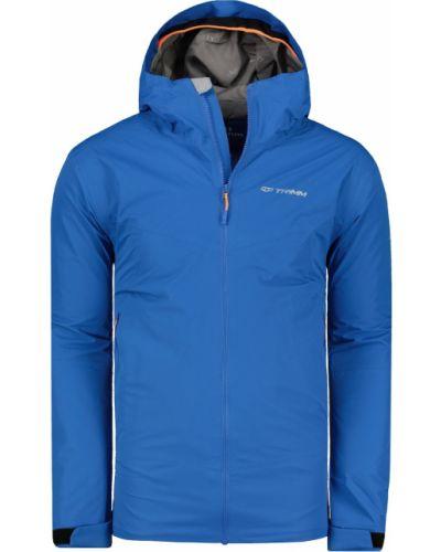 Niebieska kurtka sportowa z kapturem z nylonu Trimm