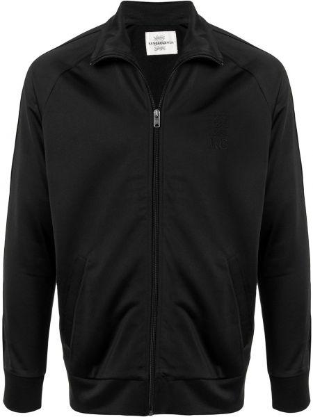 Czarny sweter z długimi rękawami Kent & Curwen