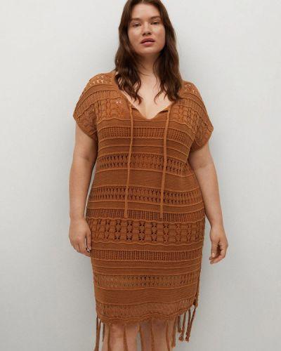 Повседневное коричневое платье Violeta By Mango