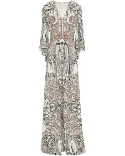 Шелковое платье макси с подкладкой Etro