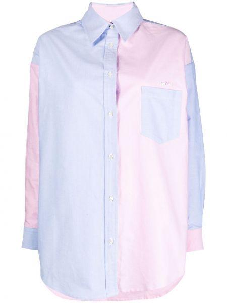 Niebieska koszula bawełniana z długimi rękawami Forte Dei Marmi Couture