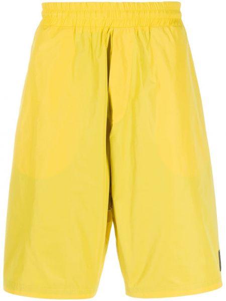 Желтые короткие шорты на резинке с заплатками Mcq Alexander Mcqueen