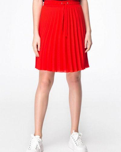 Плиссированная юбка красный Musthave