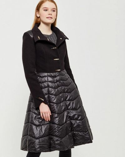 Черное пальто весеннее Grand Style