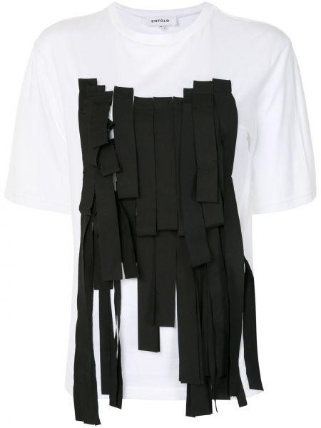 Bawełna bawełna czarny koszula z krótkim rękawem krótkie rękawy Enfold