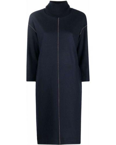 Niebieska sukienka prążkowana Antonelli
