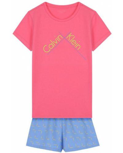 Розовая пижама с шортами Calvin Klein Underwear