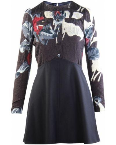 Czarna sukienka z długimi rękawami Carven