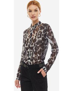 Блузка с длинным рукавом прозрачная на пуговицах Guess