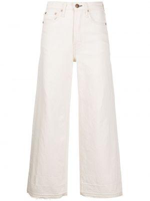 Klasyczne białe jeansy z wysokim stanem Rag & Bone