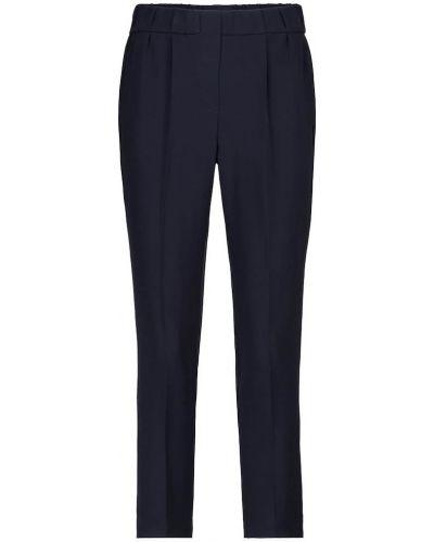 Jedwab niebieski klasyczne spodnie Brunello Cucinelli