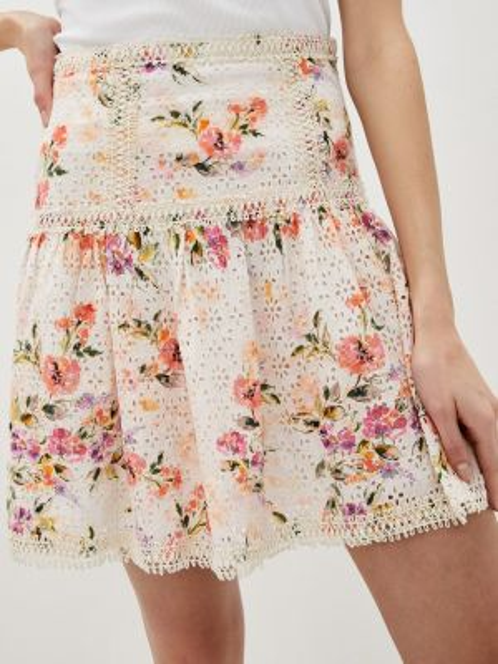 Джинсовая юбка карандаш розовая Guess Jeans