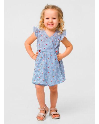 Платье с запахом в полоску Smil