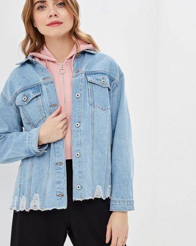 Джинсовая куртка весенняя голубой Befree