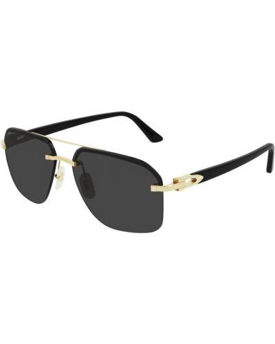 Czarne złote okulary Cartier