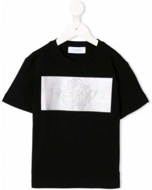 Рубашка черная стрейч Roberto Cavalli Junior