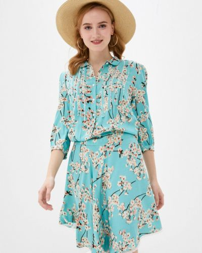 Бирюзовое платье-рубашка Allegri