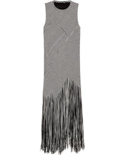 Платье макси с бахромой из вискозы Proenza Schouler
