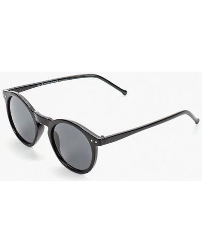 Солнцезащитные очки круглые черные Topman