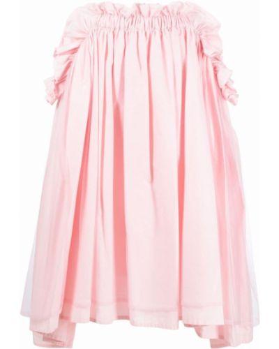 Хлопковая плиссированная юбка миди с карманами Comme Des Garçons Noir Kei Ninomiya