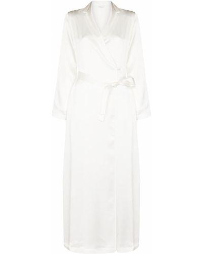 Шелковый халат - белый La Perla