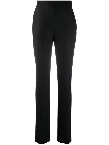 Шерстяные черные деловые брюки с потайной застежкой Giambattista Valli
