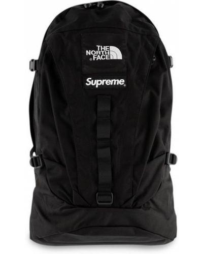 Czarny plecak z klamrą Supreme