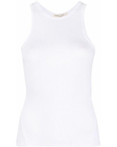 Biały top bez rękawów bawełniany Rag & Bone