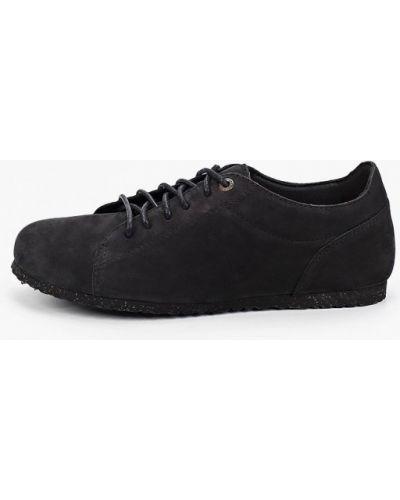 Черные ботинки из нубука Birkenstock