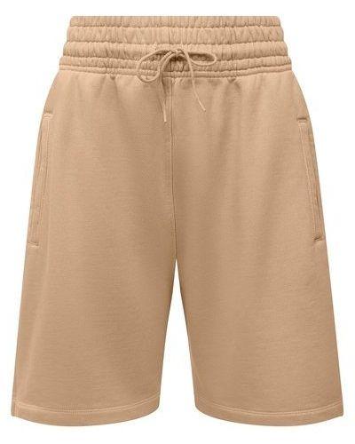 Хлопковые шорты - бежевые Agolde
