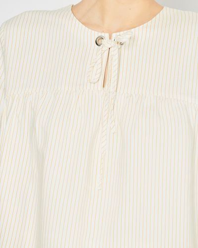 С рукавами блузка из вискозы с декольте Stefanel