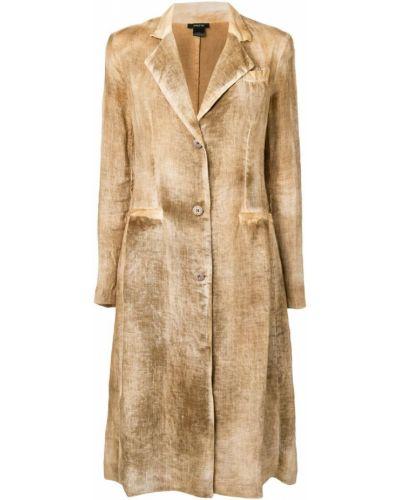 Однобортное длинное пальто с капюшоном на пуговицах Avant Toi