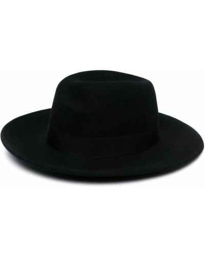 Czarna czapka Borsalino