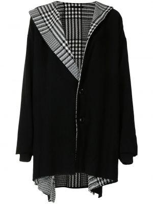 Черное пальто длинное Y's