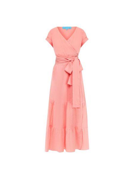 Платье с поясом с запахом льняное A Mere Co.