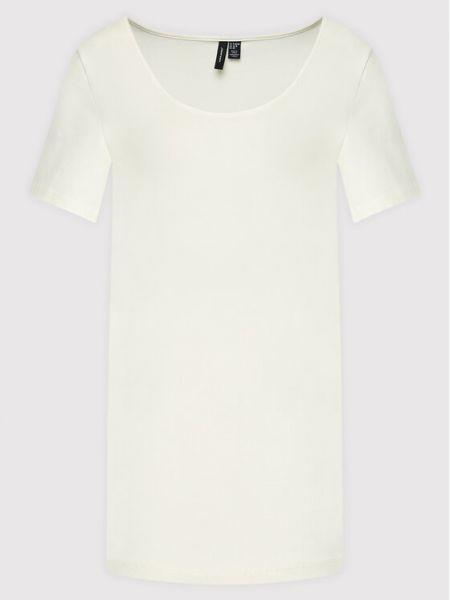 Biała t-shirt Vero Moda Curve