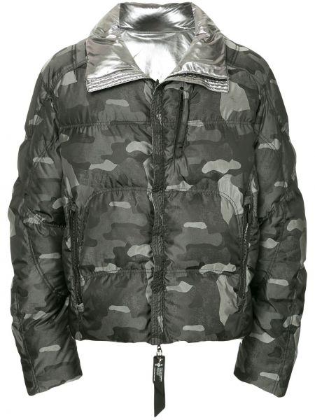 Серая куртка с карманами круглая с вырезом Kru