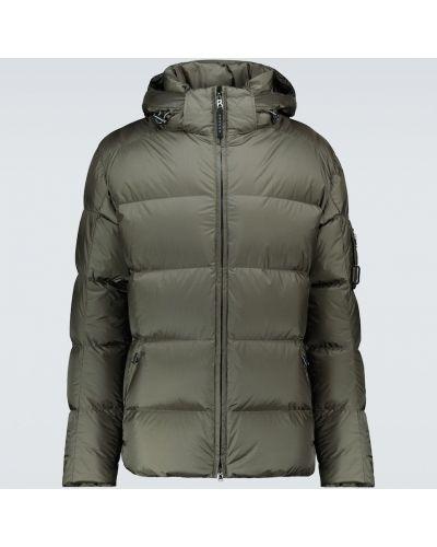Пуховая зеленая дутая куртка с капюшоном Bogner